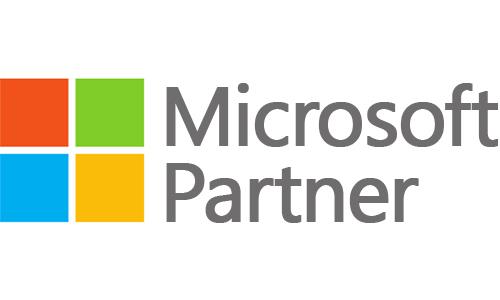 Microsoft Partner Logosqu white